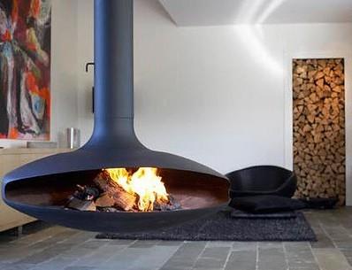 woodstove www.fireorb.net/  homeklondike.com/2010/02/24/ceiling-mounted-fireplaces-9-...