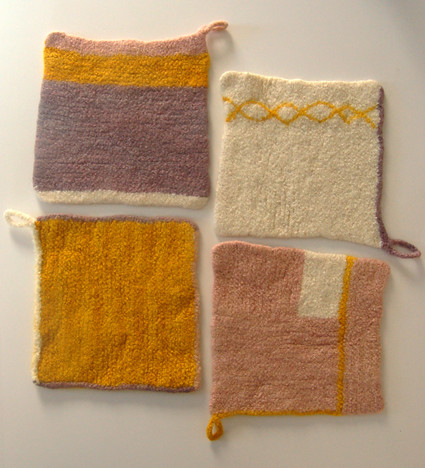 Whit's Knits: Four Felted Hot Pads | by the purl bee