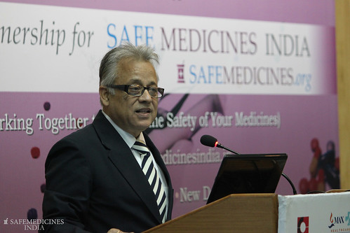 Bejon Misra presenting at the launch | by SafeMedicines