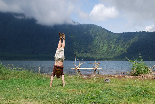 Lake Beratan handstand | by Boring Lovechild