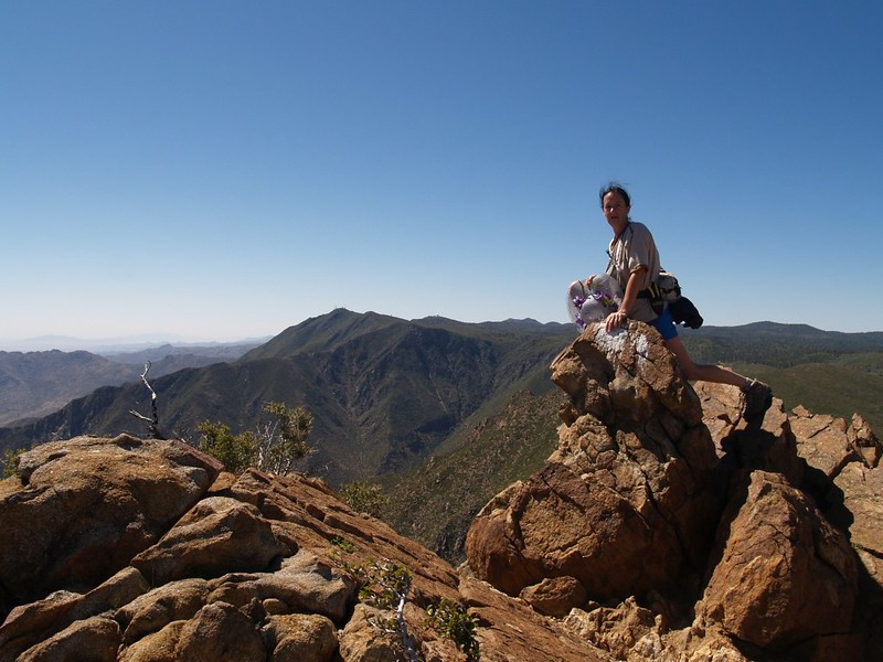 Vicki on the Garnet Peak Summit Block