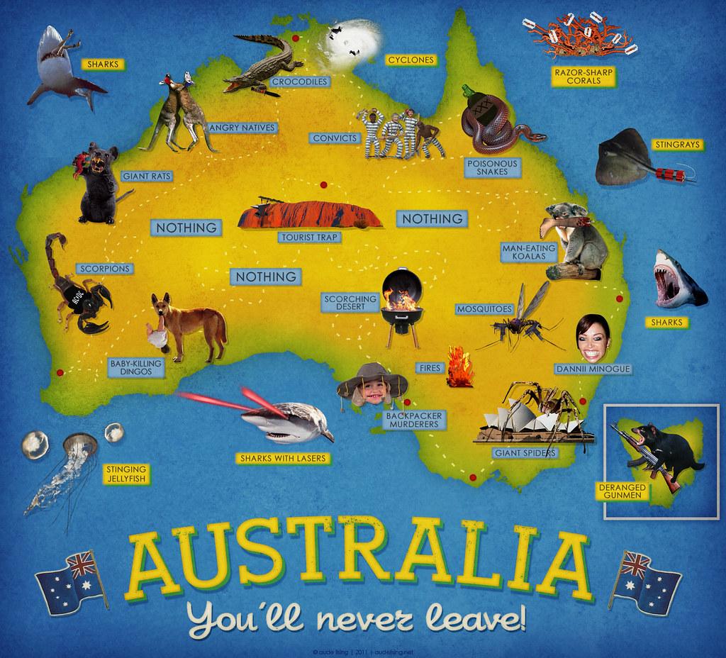tourist map of australia by audelising