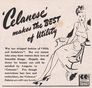 Advert for 'Celanese' acetate rayon1945 | by tuppencehapenny