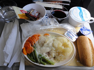 classic airplane food, on Air Niugini | by ckoukkos