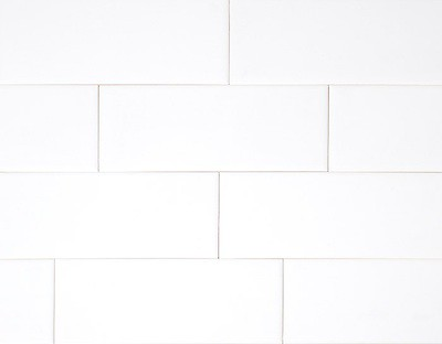 White glossy subway tile