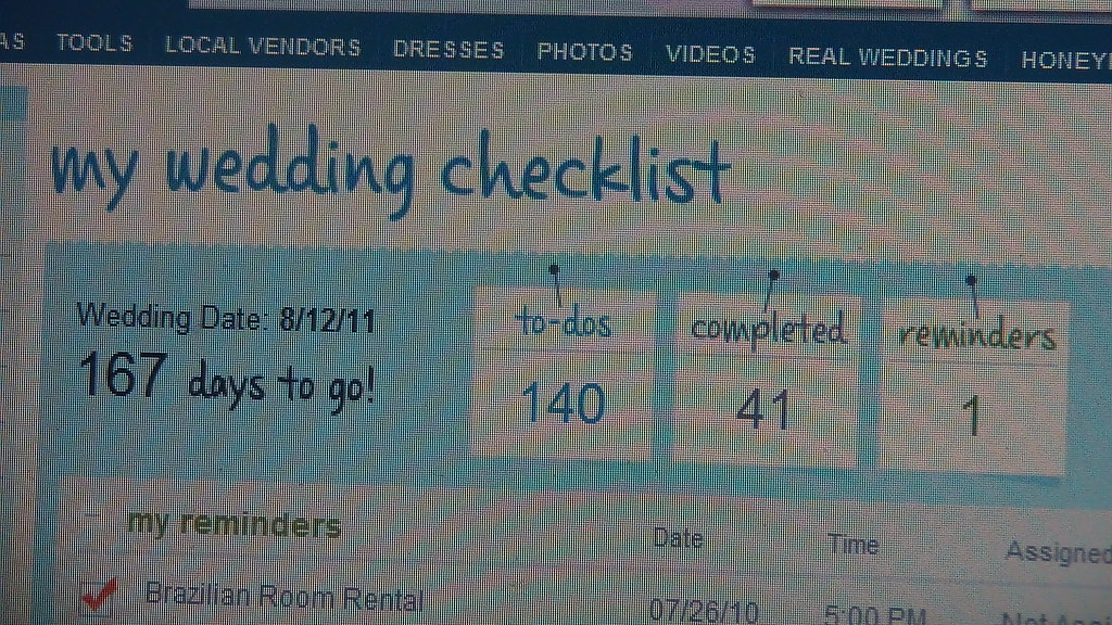 my wedding checklist on theknot com the thing that is tick flickr