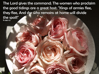 Bowl of Roses Psalm 88 11-12 | by Julia Monroe