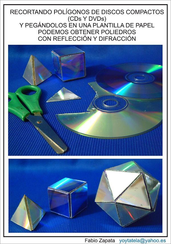 sólidos Platónicos | Construidos recortando CD y DVD, y lueg… | Flickr