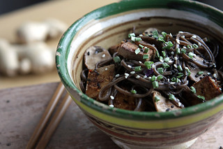 soba with wasabi vinaigrette | by David Lebovitz