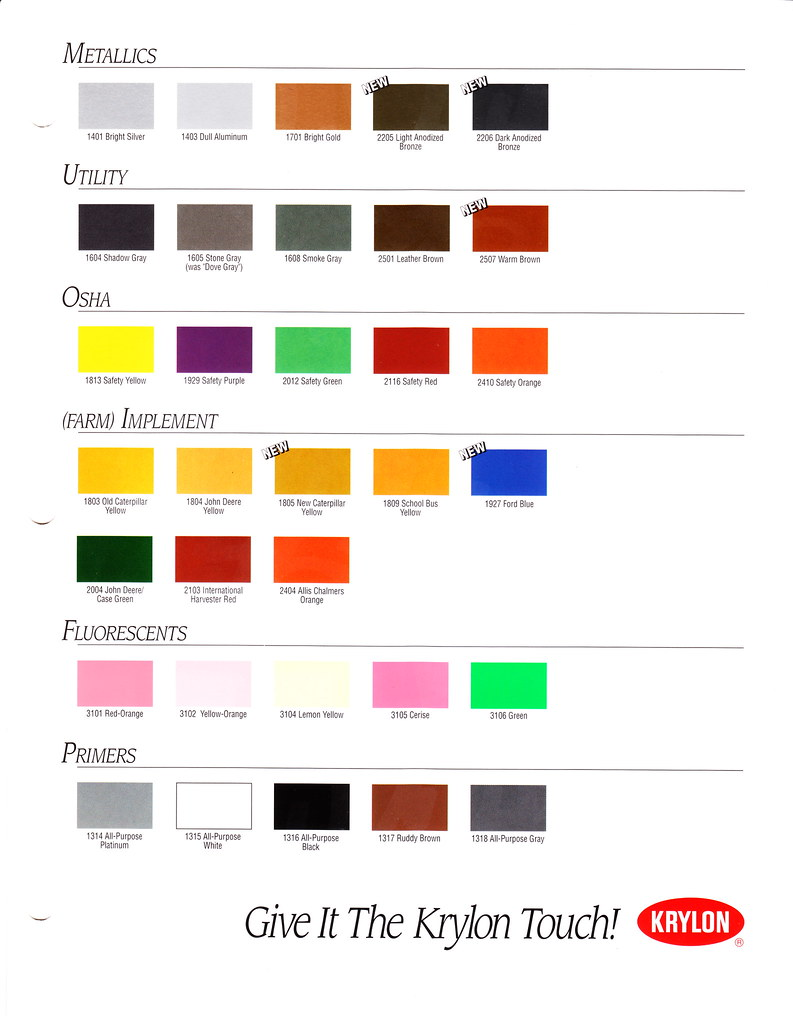 1995 Krylon Color Chart Page 2 Slyle133 Flickr