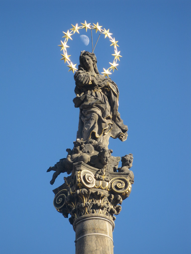 Moon through the Virgin Mary's Crown