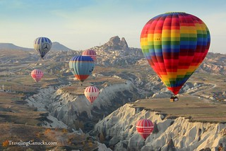 Hot Air Balloons in Cappadocia Turkey | by camwears