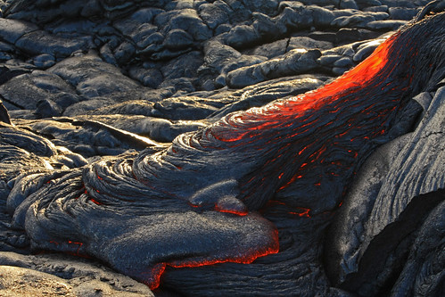 active pahoehoe lava flow, January 28, 2011, Kalapana area, Hawaii County, Hawaii 3 | by Alan Cressler