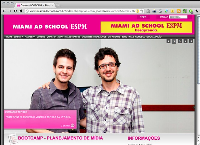 No site da Miami