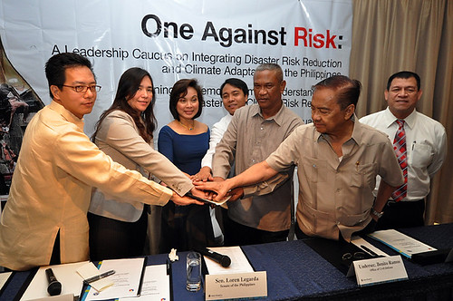 "Top bodies for disaster risk reduction and climate change in Philippines are ""One Against Risk"" 