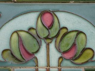 Art Nouveau Shop Front Tile of a Rose Bouquet - Detail | by raaen99