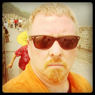 Me at forty-two. Touring the Great Wall on my first trip to #China, can't wait til I get to the end of it. | by ObieVIP