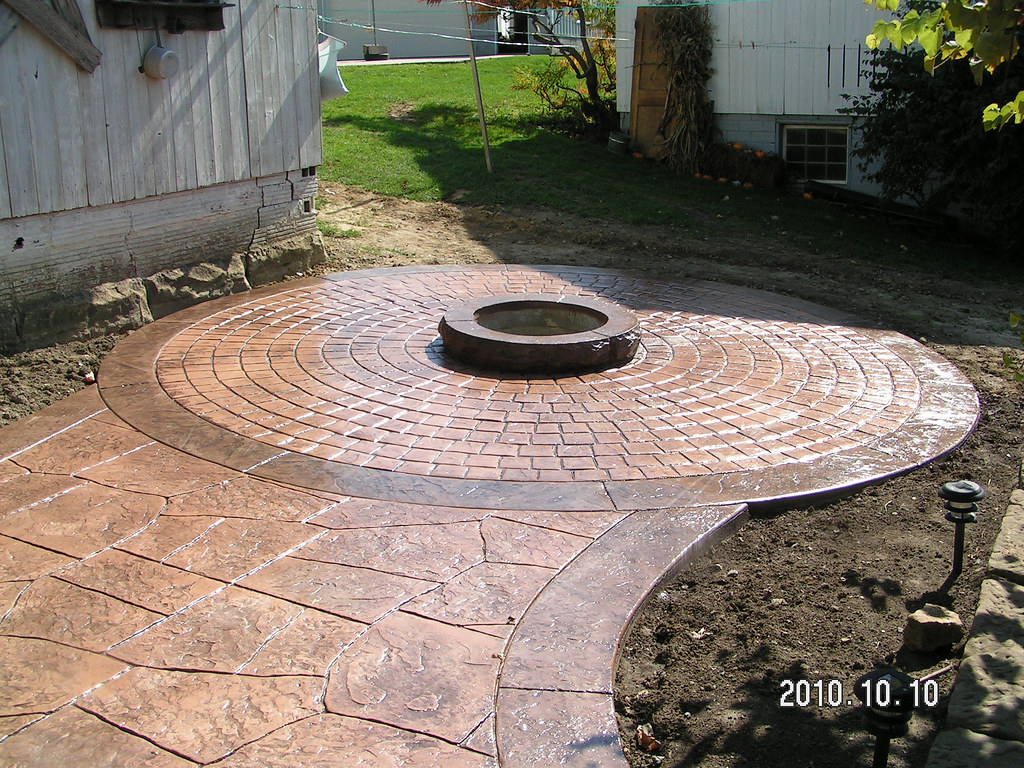 ... swissvillageconcrete Stamped Concrete Patio with Fire Pit by Swiss  Village Concrete | by swissvillageconcrete - Stamped Concrete Patio With Fire Pit By Swiss Village Conc… Flickr