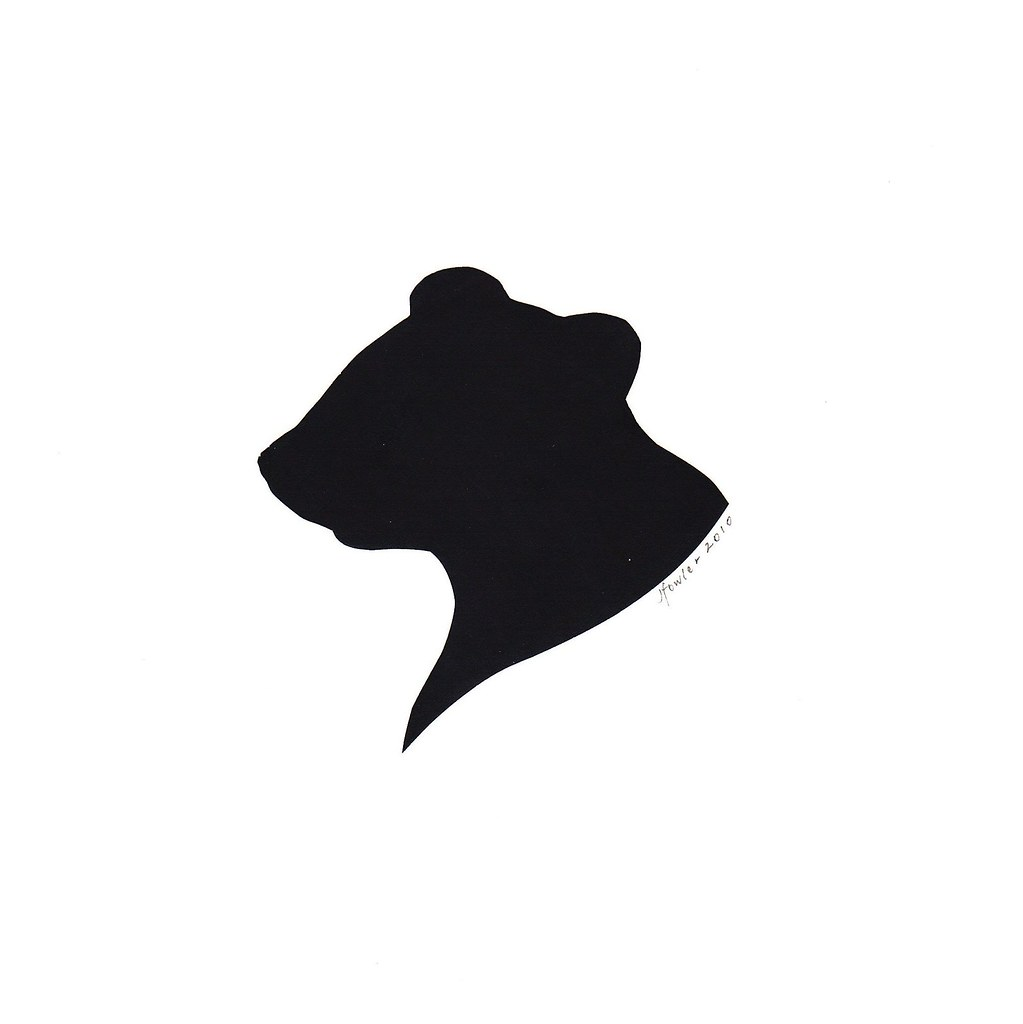 groundhog silhouette by jenny lee fowler