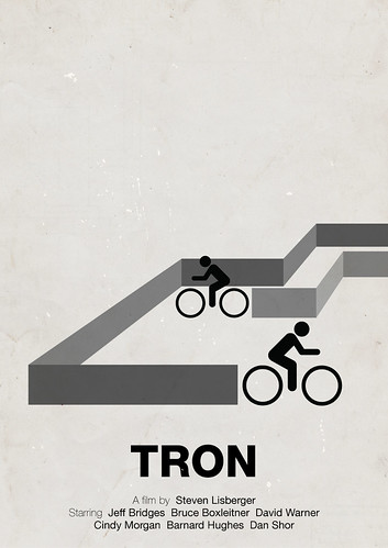 'Tron' pictogram movie poster | by Viktor Hertz