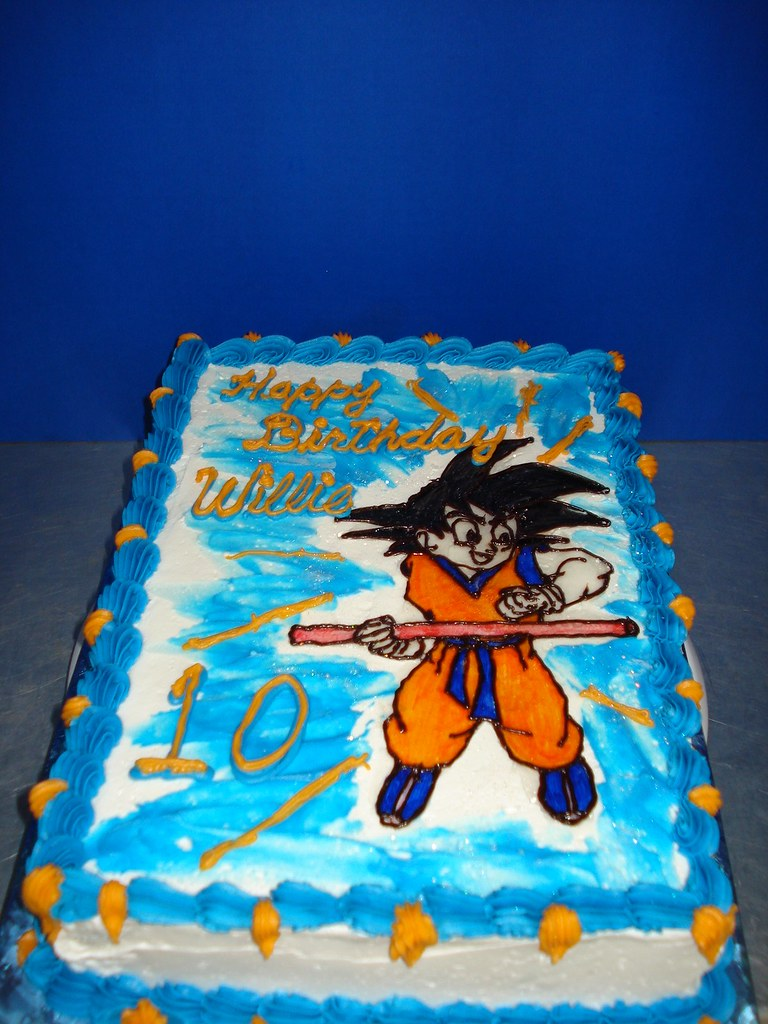 Dragon Ball Z Birthday Cake Son Loves The Show And Thats Flickr