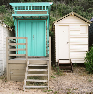 two beach huts | by thoughtfactory