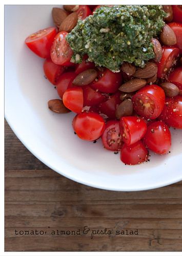 tomato, almond & pesto salad | by jules:stonesoup