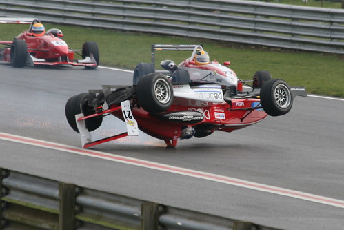 Snetterton Crash - Roll Over - Mark Terry - MSV F3 Cup | by Ben Heather