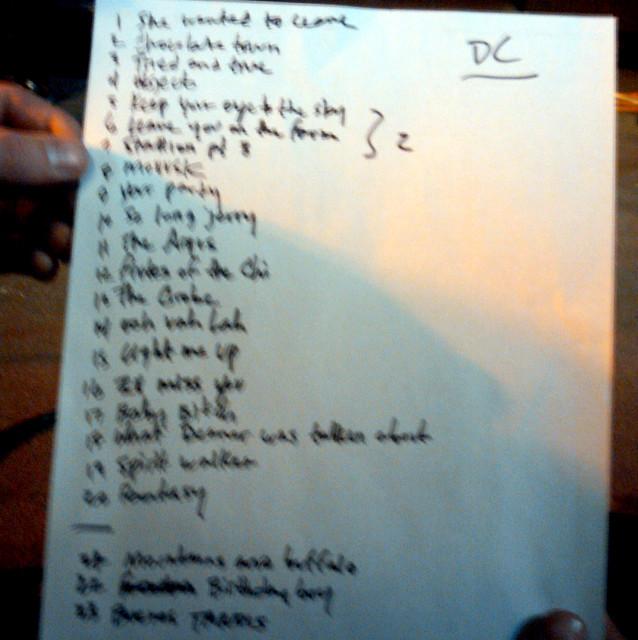 20101217 - Gene Ween solo show setlist - (by Carolyn)