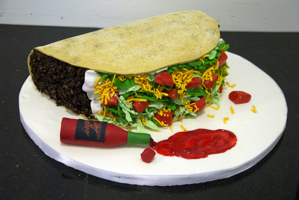 Huge Taco Birthday Cake Although This Giant Taco Looks Lik Flickr