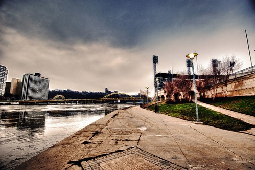 River walk by PNC Park HDR | by Dave DiCello