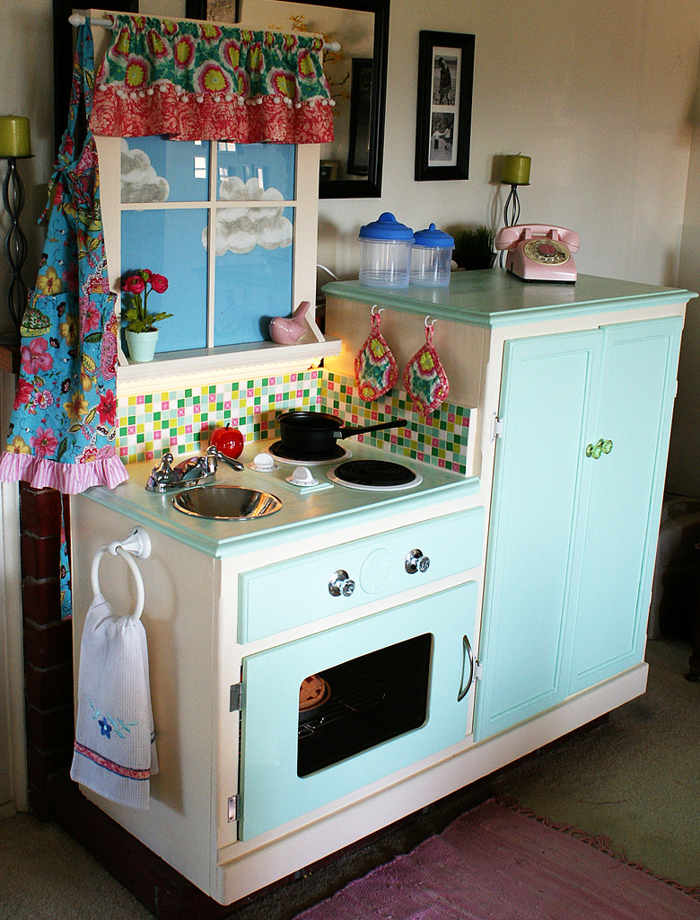 Play Kitchen 2   The play kitchen I finally finished for my …   Flickr