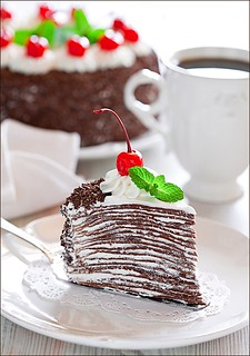 Chocolate Crepe Cake | by laperla2009
