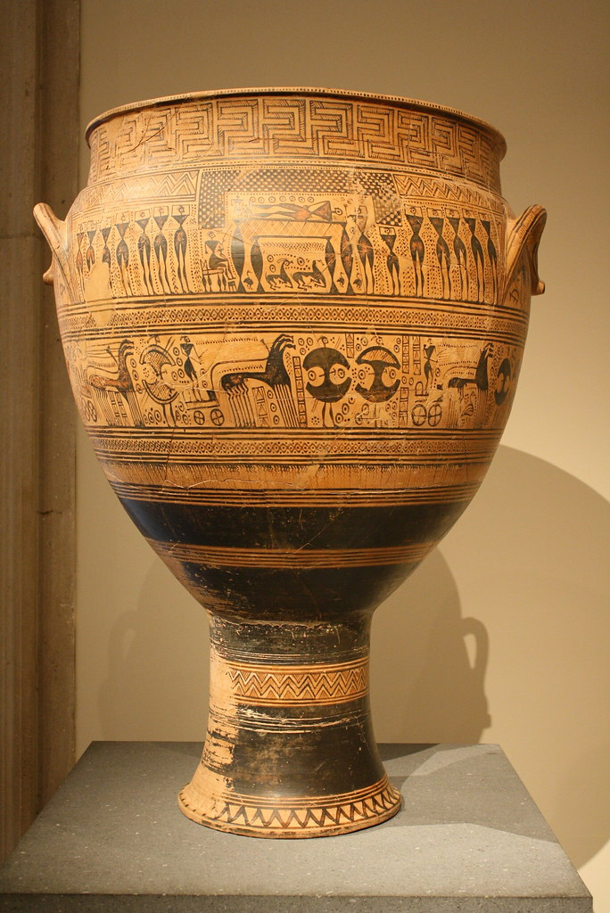 A Highly Important Monumental Attic Late Geometric Krater Flickr