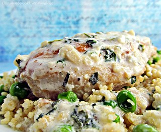 Tarragon Chicken with Sweet Pea Couscous | by CinnamonKitchn