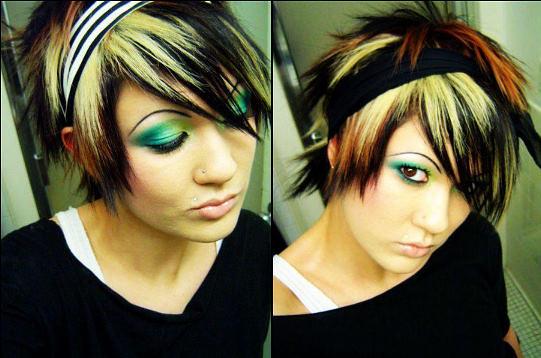 Pleasant Short And Multicolored Scene Hair Omgjoygasm Flickr Short Hairstyles Gunalazisus