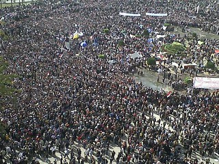 Hundreds of Thousands in Tahrir Square | by RamyRaoof