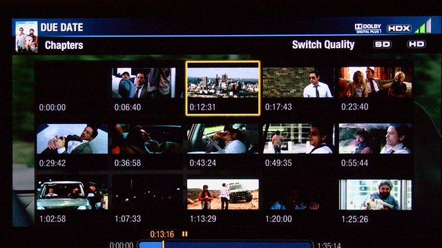Samsung 6500 Vudu Chapter Selections booya gadget