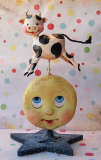 The Cow Jumped Over the Moon | by thepolkadotpixie