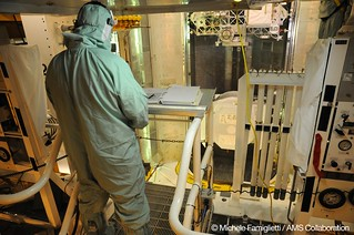 10 - Checking docs and AMS on the PCR - Photo Credit: Michele Famiglietti AMS-02 Collaboration | by ams02web
