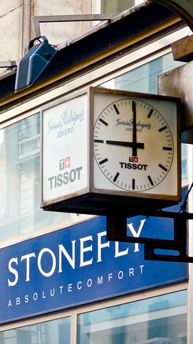 TISSOT Clock of Juwelery Store Garcia Rodriguez in the Gran Via in Madrid Spain | by Arjan Richter