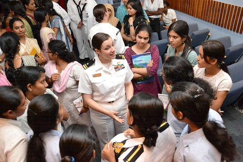 Women's History month student interaction | by U.S. Consulate General Chennai