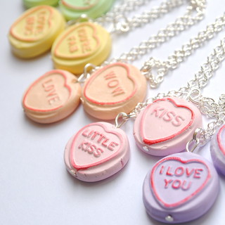 loveheart necklaces | by Vicki Brown Designs