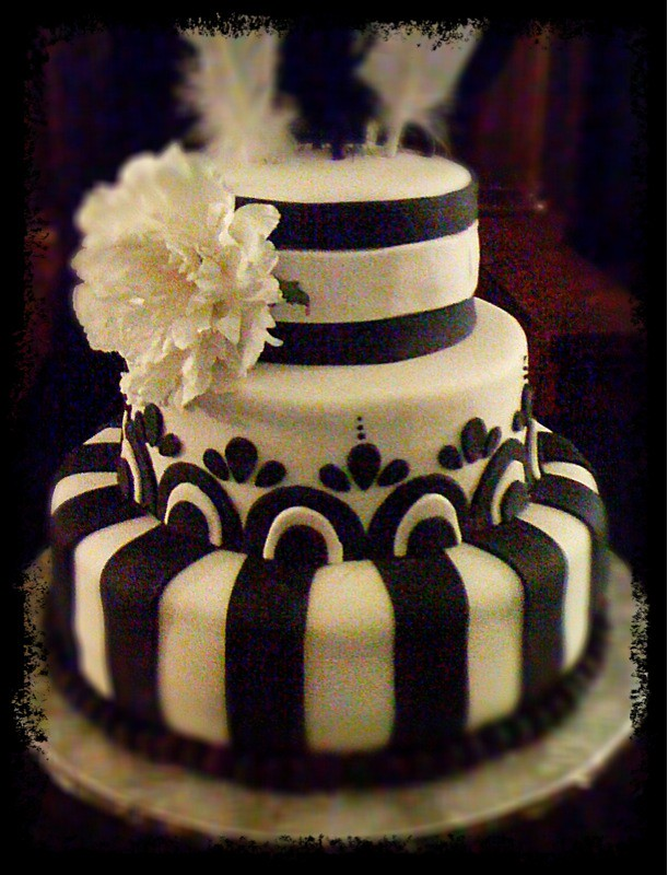 20s Themed Birthday Cake Photoshop