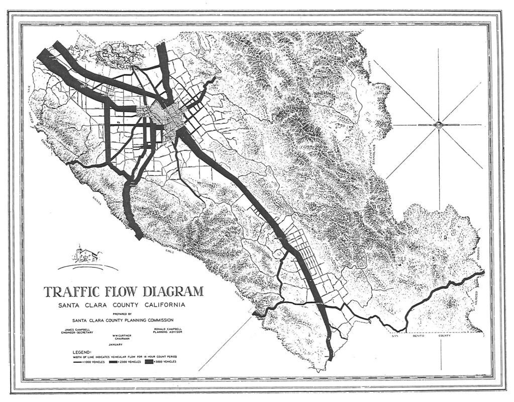 Ca Flow Chart: Traffic Flow Diagram Santa Clara County California (1942u2026 | Flickr,Chart