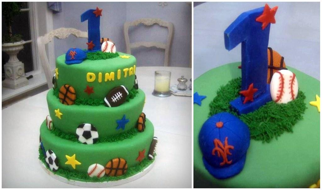 Boys 1st Birthday Cake Sports Theme My talented mom mad Flickr