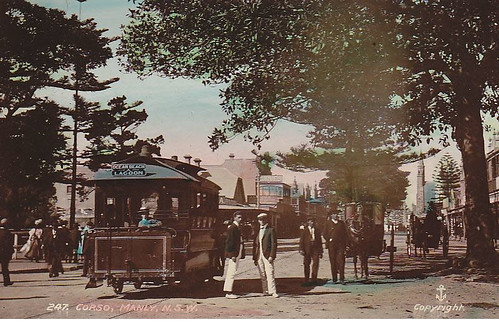 Horse Tram  on the Corso, Manly (circa 1907)