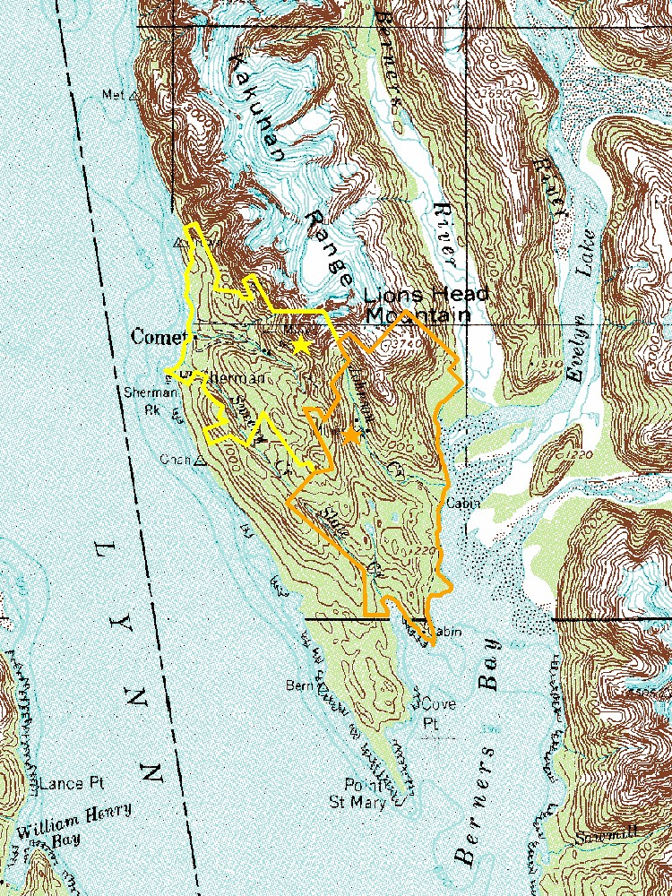 Location Of Kensington And Proposed Jualin Gold Mines Sou Flickr - Usgs topo maps alaska