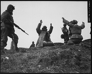 Men of the 1st Marine Division capture Chinese Communists during fighting on the central Korean front. Hoengsong, March 2, 1951., 1927 - 1981 | by The U.S. National Archives
