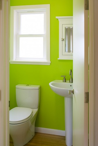 Lime Green Bathroom | by Jessie {Creating Happy}